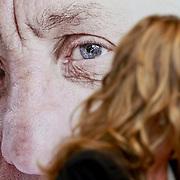 NLD/Amsterdam/20110314 - Presentatie nieuwe Helden en 14 jarig bestaan Johan Cruijff Foundation, Inge de Bruijn voor een portret van Joahn Cruijff