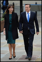 David Cameron Keynote Speech. <br /> The Prime Minister David Cameron with his wife Samantha walk to the Conference Hall Where the Prime Minister will make his  keynote speech to the Conservative Party Conference, Manchester, United Kingdom. Wednesday, 2nd October 2013. Picture by Andrew Parsons / i-Images