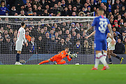 Lille goalkeeper Léo (1) makes a save during the Champions League match between Chelsea and Lille OSC at Stamford Bridge, London, England on 10 December 2019.