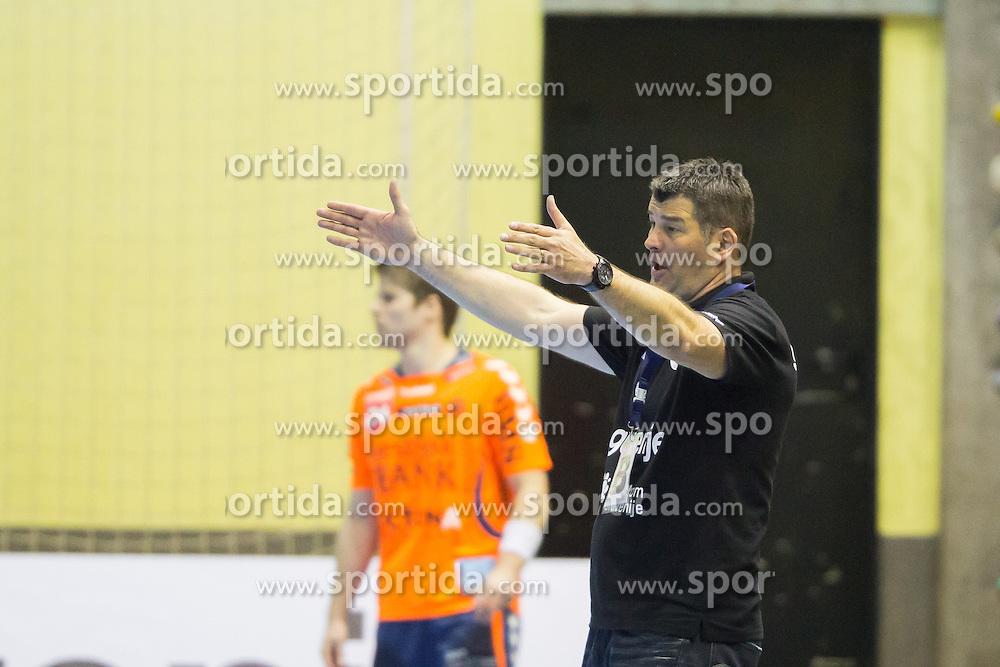 Gregor Cvijic, head coach of RK Gorenje Velenje (SLO) during handball match between RK Gorenje Velenje (SLO) and Team Tvis Holstebro (DEN) in Quarter Finals of EHF European Cup 2014/15, on April 11, 2015 in Red Arena, Velenje, Slovenia. Photo by Ziga Zupan / Sportida
