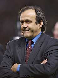 Manchester, England - Tuesday, March 13, 2007:  President of UEFA Michel Platini before the UEFA Celebration Match between Manchester United and a Europe XI at Old Trafford. (Pic by David Rawcliffe/Propaganda)