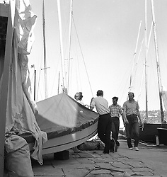 The Island Sailing Club at Cowes, Isle of White in July 1959.