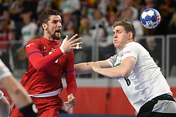 19.01.2018, Varazdin Arena, Varazdin, CRO, EHF EM, Herren, Deutschland vs Tschechien, Hauptrunde, Gruppe 2, im Bild Ondrej Zdrahala, Finn Lemke. // during the main round, group 2 match of the EHF men's Handball European Championship between Germany and Czech Republic at the Varazdin Arena in Varazdin, Croatia on 2018/01/19. EXPA Pictures © 2018, PhotoCredit: EXPA/ Pixsell/ Vjeran Zganec Rogulja<br /> <br /> *****ATTENTION - for AUT, SLO, SUI, SWE, ITA, FRA only*****