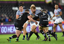 Southern Kings' Tienie Burger<br /> <br /> Photographer Mike Jones/Replay Images<br /> <br /> Guinness PRO14 Round Round 15 - Ospreys v Southern Kings - Friday 16th February 2018 - Liberty Stadium - Swansea<br /> <br /> World Copyright © Replay Images . All rights reserved. info@replayimages.co.uk - http://replayimages.co.uk