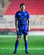 Leinster's Ross Byrne<br /> <br /> Photographer Craig Thomas/Replay Images<br /> <br /> Guinness PRO14 Round 17 - Scarlets v Leinster - Friday 9th March 2018 - Parc Y Scarlets - Llanelli<br /> <br /> World Copyright © Replay Images . All rights reserved. info@replayimages.co.uk - http://replayimages.co.uk