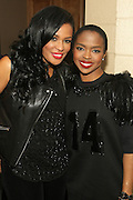 5 April 2014 - Washington, DC:  (L-R) DJ Beverly Bond, Founder, Black Girls Rock! and Recording Artist Ms. Lauryn Hill backstage at the launch of ROCK! LIKE A GIRL Inside at the One Mic Hip Hop Festival held at the John F. Kennedy for the Performing Arts on April 5, 2014 in Washington, D.C.  (Terrence Jennings)