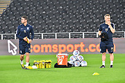 Footballs and drinks on pitch  before warm up during the EFL Sky Bet Championship match between Hull City and Preston North End at the KCOM Stadium, Kingston upon Hull, England on 26 September 2017. Photo by Ian Lyall.