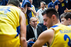 Keselj Igor and players of KK Sencur GGD during basketball match between KK Sencur  GGD and KK Tajfun Sentjur for Spar cup 2016, on 16th of February , 2016 in Sencur, Sencur Sports hall, Slovenia. Photo by Grega Valancic / Sportida.com