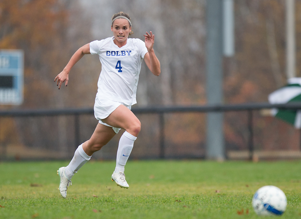 Ruthie Hawley, of Colby College, in a NCAA Division III soccer game on October 29, 2014 in Waterville, ME. (Dustin Satloff/Colby College Athletics)