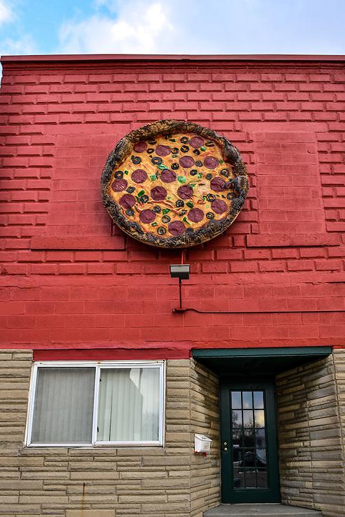 Exterior of Luigi's Restaurant.