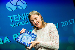 Andreja Klepac during Slovenian Tennis personality of the year 2017 annual awards presented by Slovene Tennis Association Tenis Slovenija, on November 29, 2017 in Siti Teater, Ljubljana, Slovenia. Photo by Vid Ponikvar / Sportida