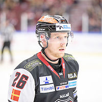2019-01-05 | Malmö, Sweden: 26 Axel Wemmenborn during the game between Malmö Redhawks and Örebro Hockey at Malmö Arena ( Photo by: Roger Linde | Swe Press Photo )<br />  <br /> Keywords: Malmö Arena, Malmö, Icehockey, SHL, Malmö Redhawks, Örebro Hockey