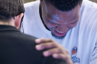 San Pablo Burgos Deon Thompson during Liga Endesa match between San Pablo Burgos and Gipuzkoa Basket at Coliseum Burgos in Burgos, Spain. December 30, 2017. (ALTERPHOTOS/Borja B.Hojas)