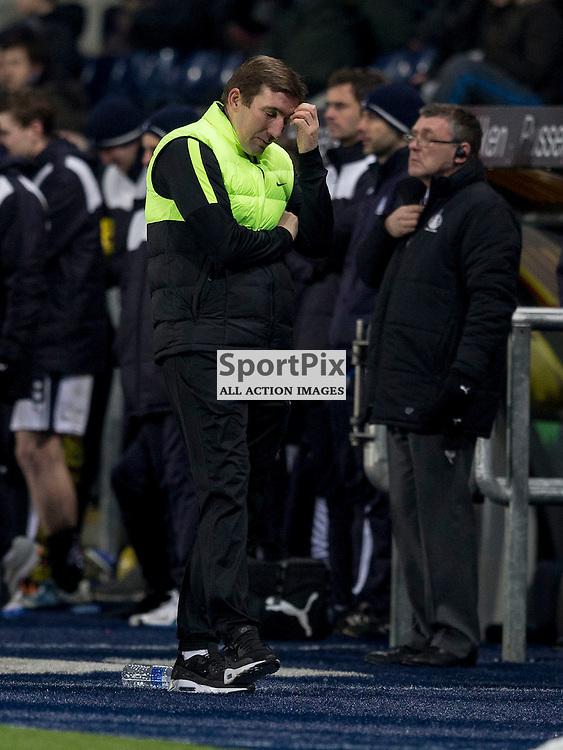 Falkirk v Hibernian   SPFL season 2015-2016  <br /> <br /> Alan Stubbs (Hibernian Manager) during the Ladbrokes Championship match between Falkirk v Hibernian at Falkirk Stadium on Sunday 17 January 2016<br /> <br /> Picture: Alan Rennie