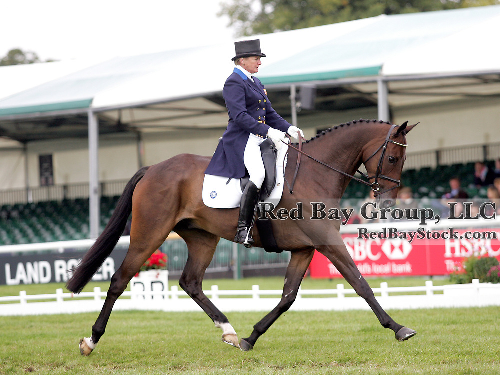 Karen O'Connor (USA) and Mandiba at the 2011 Land Rover Burghley Horse Trials in Stamford, UK.