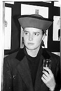 India Hicks, 1986.  Anna Piaggi book party. Carl Largerfeld. New band street 12.11.86© Copyright Photograph by Dafydd Jones 66 Stockwell Park Rd. London SW9 0DA Tel 020 7733 0108 www.dafjones.com