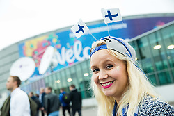 Supporters of Finland ahead to the basketball match between National Teams of Finland and Slovenia at Day 3 of the FIBA EuroBasket 2017 at Hartwall Arena in Helsinki, Finland on September 2, 2017. Photo by Vid Ponikvar / Sportida