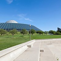 Photo of Adler Planetarium in Chicago. The Adler Planetarium and Astronomy Museum was founded in 1930 and is located in Museum Campus along the Chicago lakefront.