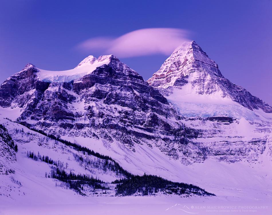 Mount Assiniboine in winter, Mount Assiniboine Provincial Park British Columbia Canada