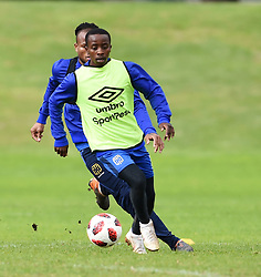 Cape Town-180801-Cape Town City player Thabo Nodada challenged by Edmilson Dove at training session at Hartleyvale Stadium, ahead of their opening game of the 2018/2019 PSL season against Supersport United at Cape Town Stadium on saturday.Photograph:Phando Jikelo/African News Agency/ANA
