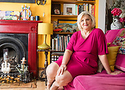Marion McGilvary portrait at her home in West London on May 05. 2017<br /> <br /> <br /> Photo Ki Price