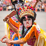 Taiwan has a rich heritage of traditional folk performing arts and mobile dancing, singing, instrumental music and dramatic troupes that parade with gods at temple festivals are a familiar sight in Taiwan<br /> Jiajiang, mobile dance troupes with fiercely painted faces that parade with gods at temple festivals, are believed to defend against supernatural evils and pestilence. There over two hundred different types and countless numbers of troupes in Taiwan today. After a problematic period resulting from association with urban gangs corresponding to Taiwan's rapid industrialization and shift from agricultural society in the 70's, jiajiang troupes struggle to rid themselves of the negative stereotypes of this period and performances have become increasingly sophisticated and artistic but less strict about the religious observances.