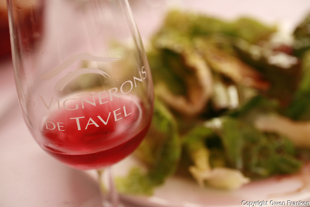 Tavel Rosé wines, in Tavel, Languedoc, France..October, 2007..Photo by Owen Franken for the NY Times...Assignment ID: 30049869Awines of the Vignerons Cooperative, Sandra Guy of the winemakers syndicate in the background..photo by Owen Franken for the NY Times..October 5, 2007..Assignment ID: 30049869A