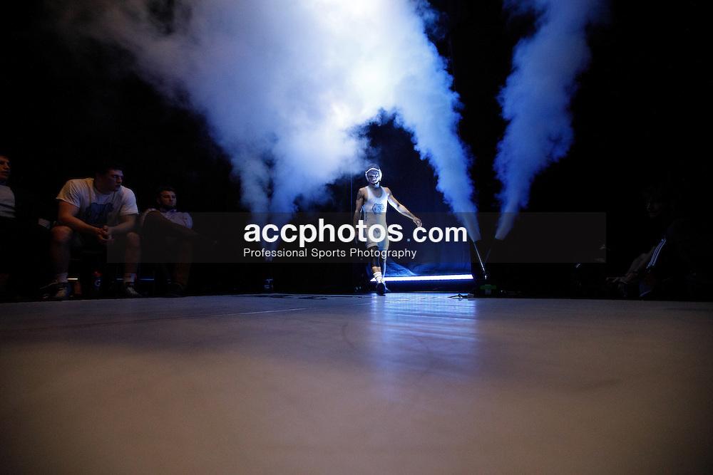 2017 January 23: North Carolina Tar Heels during a match against the North Carolina State Wolfpack at Memorial Hall in Chapel Hill, NC. NCSU won 19-11.<br /> <br /> 133: Nicholas Lirette (UNC) dec. #15 Jamal Morris, 8-7