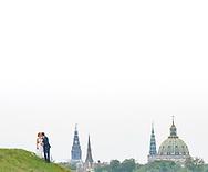 Wedding Portraits and Photojournalism (stemningsbilleder) from Tina and Jeppe's Copenhagen Wedding at Trekroner Fort