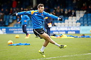 Shrewsbury Town FC midfielder Shaun Whalley (7) warms up before kick off during the EFL Sky Bet League 1 match between Gillingham and Shrewsbury Town at the MEMS Priestfield Stadium, Gillingham, England on 28 January 2017. Photo by Andy Walter.