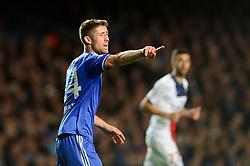 Chelsea Defender Gary Cahill (ENG) points - Photo mandatory by-line: Rogan Thomson/JMP - 07966 386802 - 08/04/2014 - SPORT - FOOTBALL - Stamford Bridge, London - Chelsea v Paris Saint-Germain - UEFA Champions League Quarter-Final Second Leg.