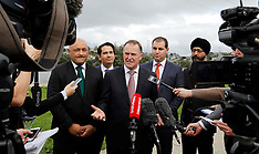 Auckland-PM turns sod on SH20 upgrade, Onehunga