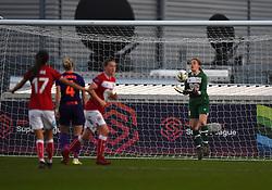 Sophie Baggaley of Bristol City makes a save - Mandatory by-line: Paul Knight/JMP - 17/11/2018 - FOOTBALL - Stoke Gifford Stadium - Bristol, England - Bristol City Women v Liverpool Women - FA Women's Super League 1