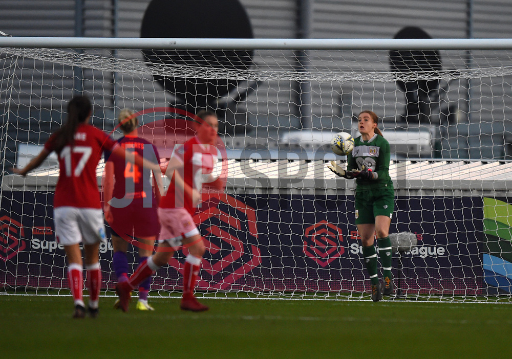 Sophie Baggaley of Bristol City makes a save - Mandatory by-line: Paul Knight/JMP - 17/11/2018 - FOOTBALL - Stoke Gifford Stadium - Bristol, England - Bristol City Women v Liverpool Women - FA Women's Super League 1