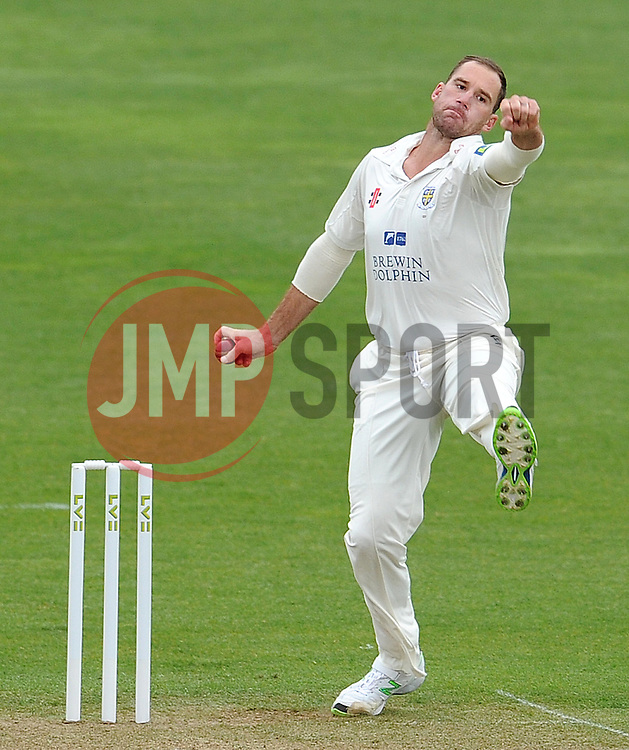Durham's John Hastings - Photo mandatory by-line: Harry Trump/JMP - Mobile: 07966 386802 - 12/04/15 - SPORT - CRICKET - LVCC County Championship - Day 1 - Somerset v Durham - The County Ground, Taunton, England.