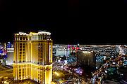 The Strip, Palazzo Hotel, at night Las Vegas, Nevada, USA