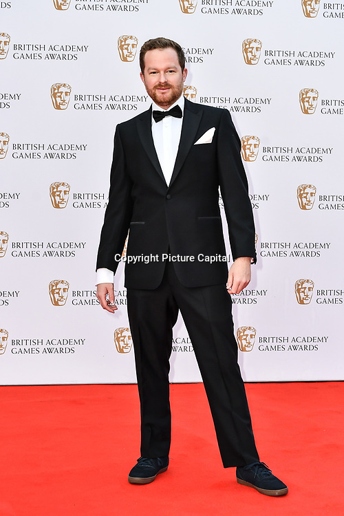 Steve Filby Arrivers at the British Academy (BAFTA) Games Awards at Queen Elizabeth Hall, Southbank Centre  on 4 March 2019, London, UK.