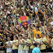 UCF Fans mock the Gamecocks during an NCAA football game between the South Carolina Gamecocks and the Central Florida Knights at Bright House Networks Stadium on Saturday, September 28, 2013 in Orlando, Florida. (AP Photo/Alex Menendez)