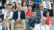 (2L) Zbigniew Niemczycki & Dorota Idzi & Janusz Wesolowski while Opening ceremony during 2011 Special Olympics World Summer Games Athens on June 25, 2011..The idea of Special Olympics is that, with appropriate motivation and guidance, each person with intellectual disabilities can train, enjoy and benefit from participation in individual and team competitions...Greece, Athens, June 25, 2011...Picture also available in RAW (NEF) or TIFF format on special request...For editorial use only. Any commercial or promotional use requires permission...Mandatory credit: Photo by © Adam Nurkiewicz / Mediasport