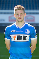 Gent's Thomas Foket pictured during the 2015-2016 season photo shoot of Belgian first league soccer team KAA Gent, Saturday 11 July 2015 in Gent.