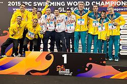 Team Brazil, Team Russia, Team Australia BRA, RUS, AUS at 2015 IPC Swimming World Championships -  Men's 4x100 Freestyle Relay 34PT