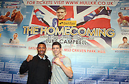 Picture by Richard Gould/Focus Images Ltd +44 7855 403186<br /> 22/06/2013<br /> Kell Brooke (left) &amp; Luke Campbell pictured during a press conference at Hull City Hall.