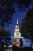 Independence Hall, Commodore John Barry Sculpture, Independence National Historic Park, Philadelphia