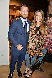 ANTHONY CHANDRIS and THEODORA WARRE at a party to celebrate the publication of The Naturalista by Xochi Balfour held at Anthropologie, 158 Regent Street, London on 19th April 2016.