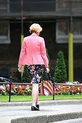 © Licensed to London News Pictures. 12/06/2017. London, UK. Andrea Leadsom leaves Downing Street ahead of Theresa May's first Cabinet meeting since the General Election this afternoon. Photo credit: Andrew McCaren/LNP
