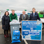 17.01.17<br /> A special event is taking place to allow businesses and householders throughout Limerick drop off confidential documents to be shredded free of charge.<br /> <br /> Pictured at the launch of the event at Mungret Recycling Centre were, Sinead McDonnell, Environmental Awareness Officer with Limerick City and County Council, Terence Ryan, Mungret Recycling Centre, Mayor of the City and County of Limerick, Cllr Kieran O&rsquo;Hanlon and Albert Kelly, Security in Shredding.<br /> <br /> <br /> <br /> <br /> <br /> The one-day event is at the Mungret Recycling Centre on Saturday 28 January 2017 from 11.00am until 3.30pm.<br /> Limerick City and County Council in conjunction with Security in Shredding, a company that offers confidential document paper shredding services in Ireland, are facilitating the 'Free Shred Event' to mark European Data Protection Day 2017 and promote good waste management practices. Picture: Alan Place