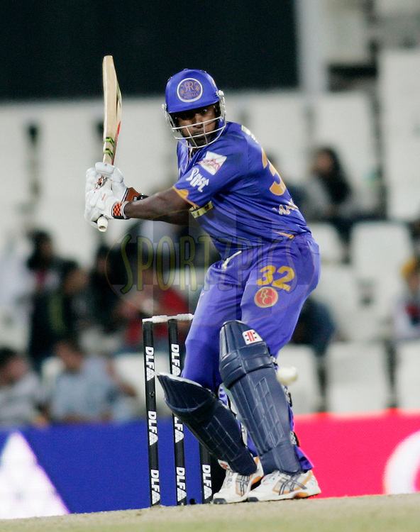 CENTURION, SOUTH AFRICA - 30 April 2009.  during the  IPL Season 2 match between the Rajasthan Royals and the Chennai Superkings held at  in Centurion, South Africa..Rajasthan Royals player Dimitri Mascarenhas in action