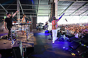 The Knocks with special guests Carly Rae Jepsen and Wyclef Jean photographed performing at the Governors Ball Music Festival on Randalls Island in New  York City on June 4, 2016