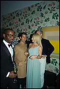 SANYIKA ODIETE; PETRA FAGRELL; ANDRE SARAIVA,  L, Sotheby's Frieze week party. New Bond St. London. 15 October 2014.