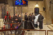 Israel, Nazareth, Pilgrims at the Basilica of the Annunciation